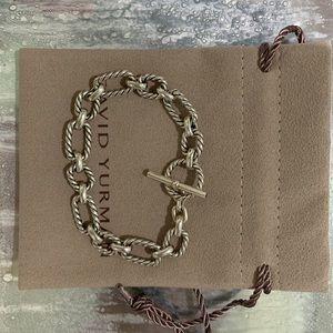 David Yurman cushion pink chain bracelet